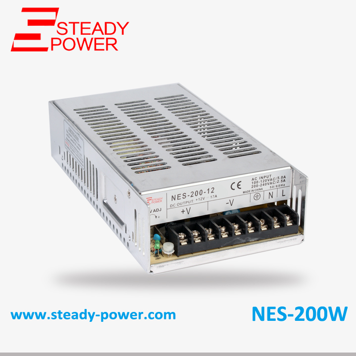 (NES-200-5) 5v 40a smps with cooling fan 200w switching power supply 200w switching power supply nes 200 5 5v 40a smps ce approved for led driver