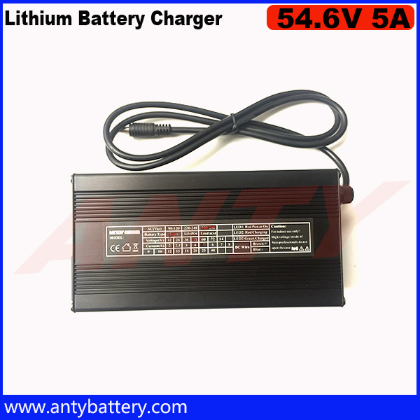 ФОТО Output 54.6V 5A Fast Charger for 48V 13S Electric Bike Lithium Battery Pack Input 100-240 VAC DHL Free Shipping