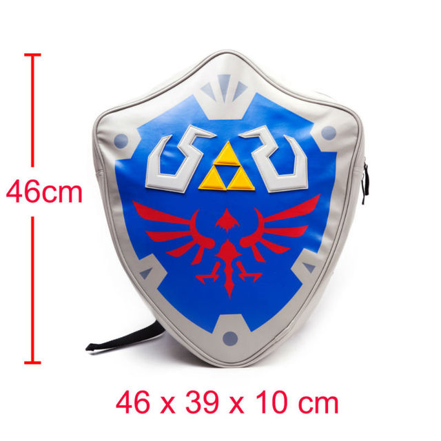 HOT Anime Legend of Zelda Hylian Shield Mochila En Forma de Escudo Cosplay Mochila Paquete Del Bolso de Escuela Adolescente Hombro Bolsa 2 estilos