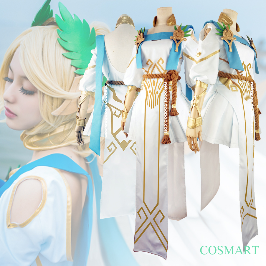 [Customize]Game OW figure Angel Mercy Victoria Skin Halloween cosplay costumes Wings Shoes New 2018 free shipping