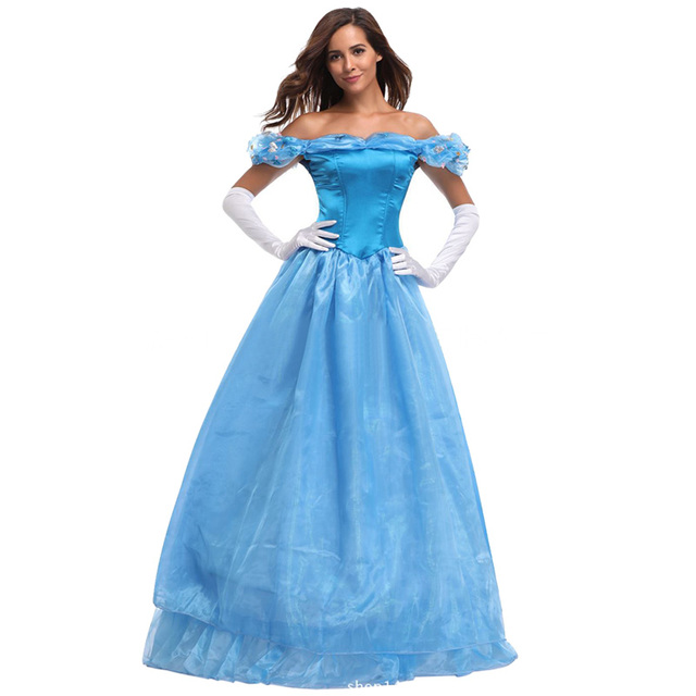 Cinderella Prinzessin Kleid Outfit Cosplay Kostüme Weihnachten ...