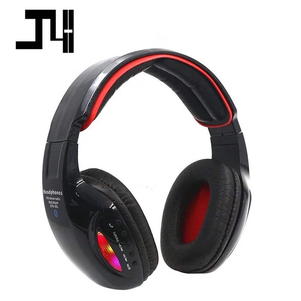 Glowing Wireless Bluetooth Headphones Stereo Sport Headset with Mic Support TF Card FM Radio Music Earphone for iPhone Samsung wireless headphones bluetooth headset 4 in 1 earphone earbuds with mic micro sd tf fm radio for iphone 7 6s ipad android device