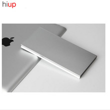Hiup Ultra thin 20000mAh Polymer Power Metal Case Dual USB External Battery Power bank Portable Charger for iPhone Smartphone