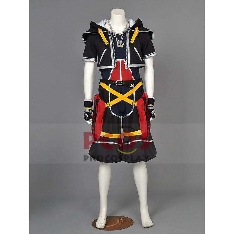 Deluxe Högkvalitativ Kingdom Hearts Sora 1: a Cosplay Kostym - Maskeradkläder och utklädnad