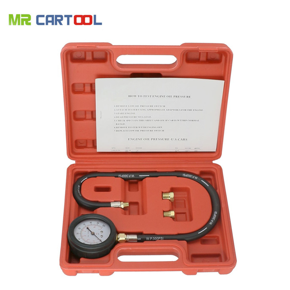 Car Repair Tools Tu-12 Engine Oil Pressure Tester Pressure Gauge Test Tool Kit Auto Car Pressure Tester Automotive Diagnostic Tool Buy One Give One Diagnostic Tools