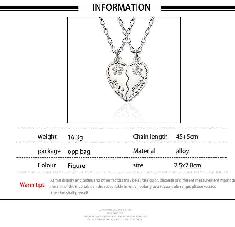 HTB1eFrMXjzuK1Rjy0Fpq6yEpFXav - Best Friend Necklace Women Crystal Heart Tai Chi Crown Best Friends Forever Necklaces Pendants Friendship BFF Jewelry Collier