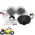 Guidão da motocicleta Speaker TF FM Rádio MP3 Player Sistema De Som Do Amplificador Estéreo Moto Cromo Preto