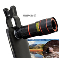 Universal 8x lente zoom óptico de cámara del telescopio del teléfono móvil para moto g g2 e e2 x2 droid turbo maxx x juego de vidrio + metal lentes
