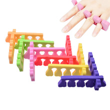 Soft Foam Nail Art Toe Separators,2pcs Orthedontic Straightening Finger Feet Care Separator Nail Tools