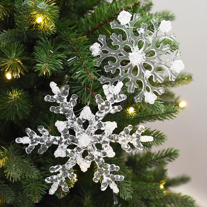 HAOCHU 4 Teile/los Schneeflocke String Weihnachten Artikel Ziemlich ...