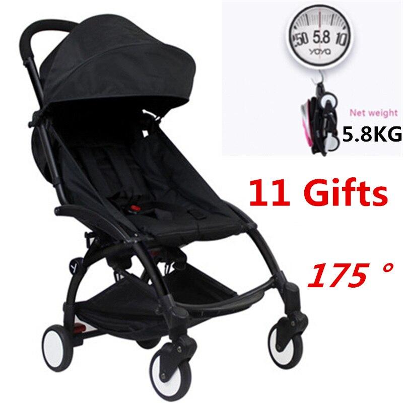 Original Lightweight Yoya Baby Stroller Buggy Car Portable Folding Baby Stroller Carriage poussete Babyzen Yoyo Stroller цена