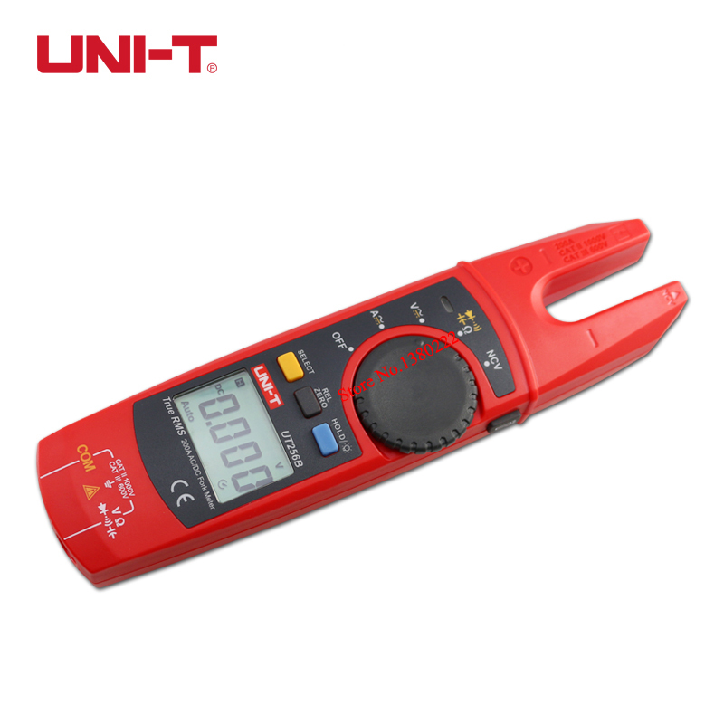 Фотография UNI-T UT256B 200A True RMS Fork Meter ac/dc fork type digital clamp type table Clip-on multimeter UT256B capacitance resistance