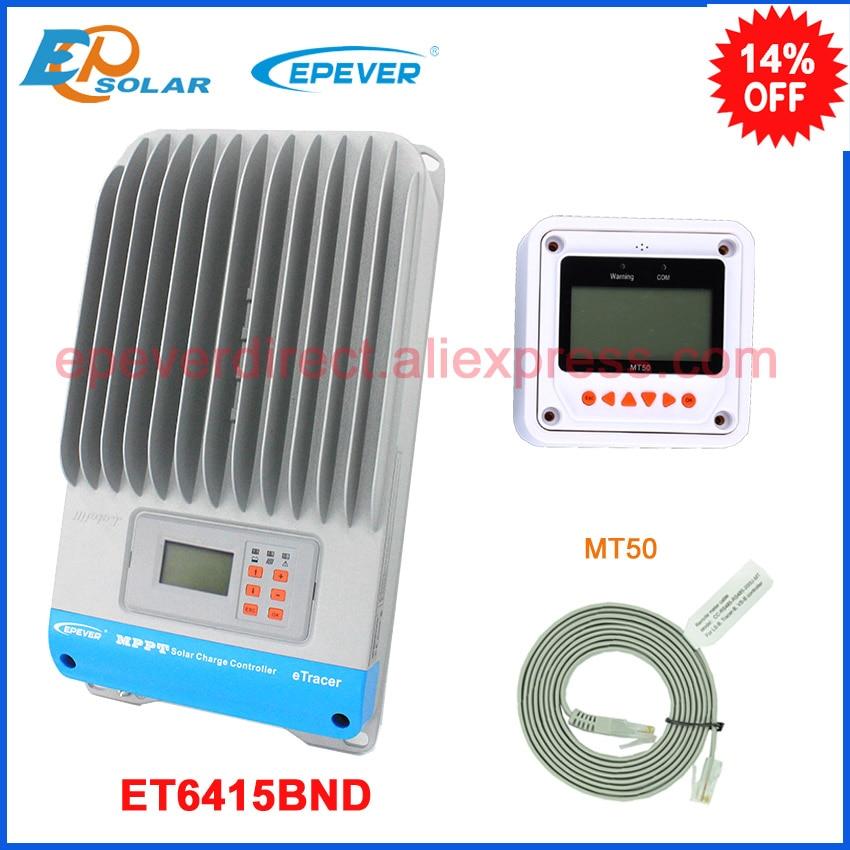 EPSolar MPPT 12v 24v 36v 48v auto arbeit solar panel controller ET6415BND mit MT50 remote meter für real-zeit monitor 60A 60amp