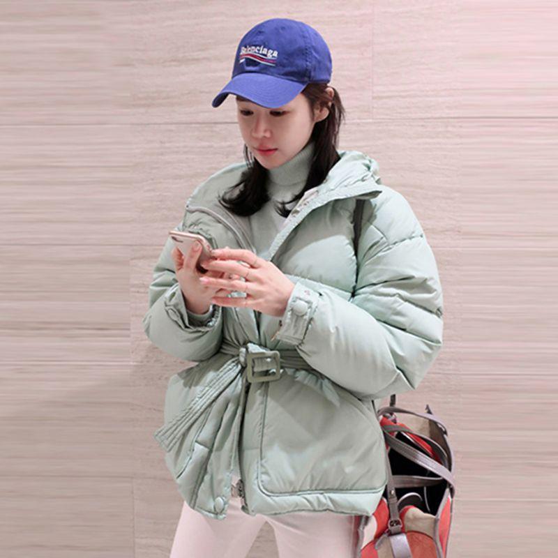 Épais White Veste Chaud Pr169 Court green Hiver Capuchon De Mode Pain Dames 2019 Parkas Coréenne black Coton À Nouvelles Femmes red Manteau Mince Survêtement w7xqfR