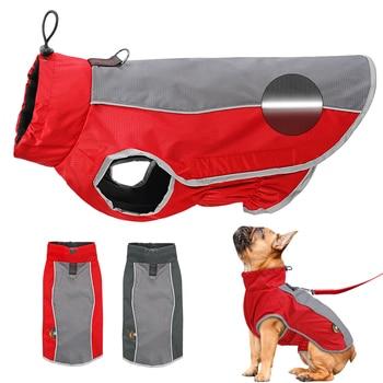 Vestiti del cane Riflettente Impermeabile Pet Giacca Cappotto di Inverno Del Cucciolo Abbigliamento Per Le Piccole Medie Cani di Taglia Grande Pitbull Bulldog Francese