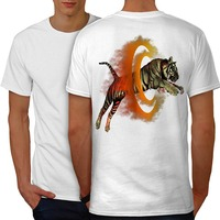 Uomini Della maglietta 2018 degli uomini di Modo Può Il Cranio Della Mucca Tiger Portale Freddo Animale Uomo Bianco S-3XL T-Shirt Base Posteriore camicia