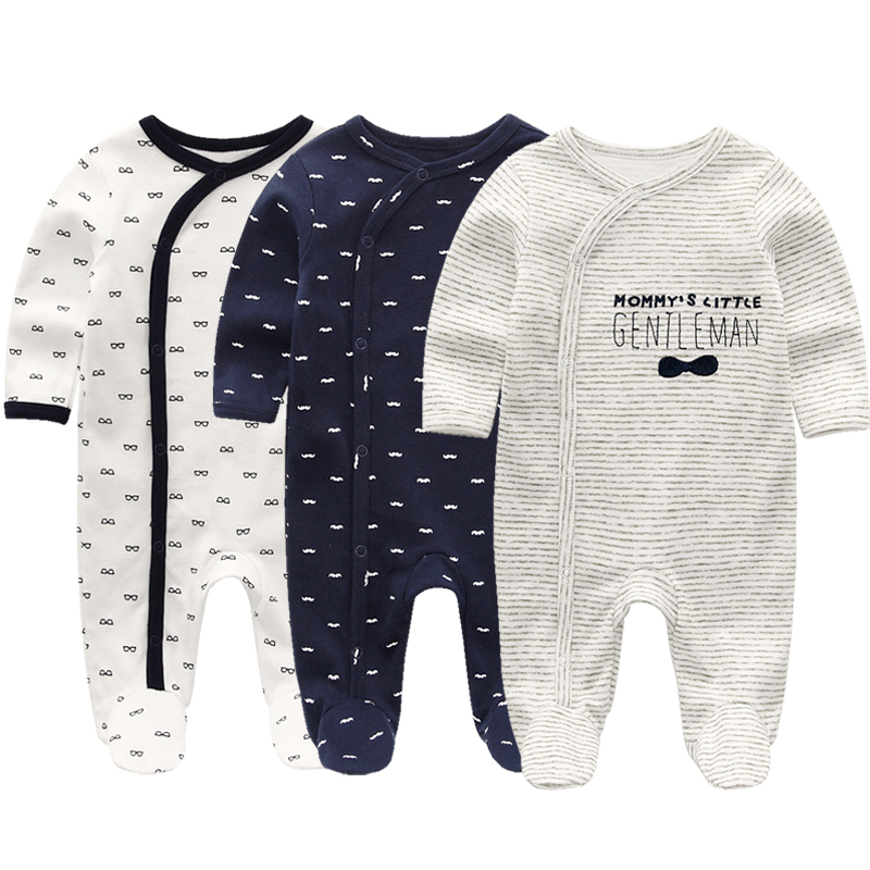 HTB1eFsPaULrK1Rjy1zbq6AenFXat Summer Baby Rompers Spring Newborn Baby Clothes For Girls Boys Long Sleeve ropa bebe Jumpsuit Baby Clothing boy Kids Outfits