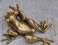 Chinese bronze frog Golden Toad sculpture, rich in financial resources