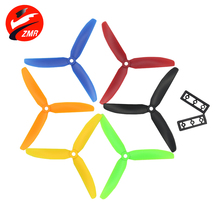 ZMR Quality 4 Pairs ABS CW/CCW 5030 5*3 propeller black 3 Blades 3 leaf Props T Blade Quadcopter Propellers for UAV flysky