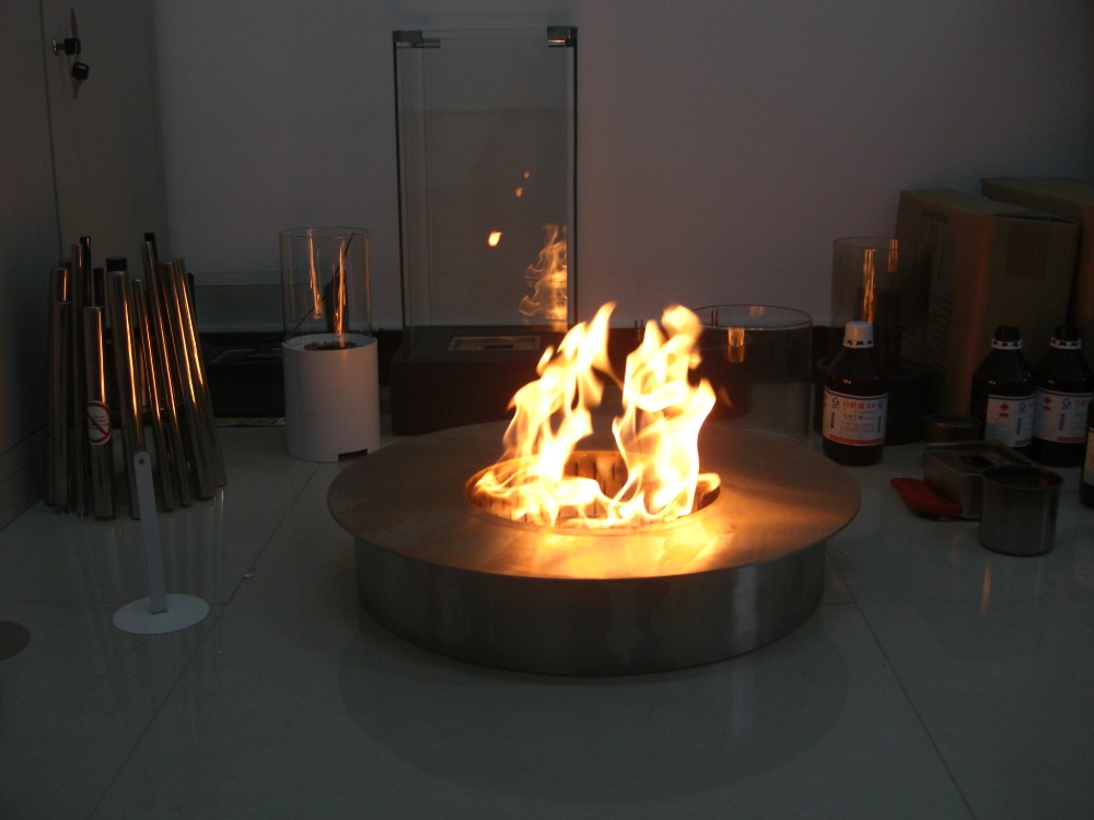Inno Living Fire 8 Liter Round Bio Ethanol Fuel Fireplace Outside Fire Place