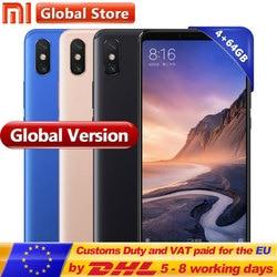 Global Version Mi Max 3 64GB ROM Mobile Phone 4GB RAM Snapdragon 636 Octa Core 6.9'' Full Screen B4 B20 5500mAh