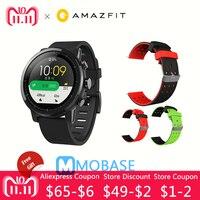 Amazfit Stratos умные часы 2 gps 5ATM вода 1,34 ''2.5D экран gps спортивные часы Firstbeat плавание Smartwatch английская версия