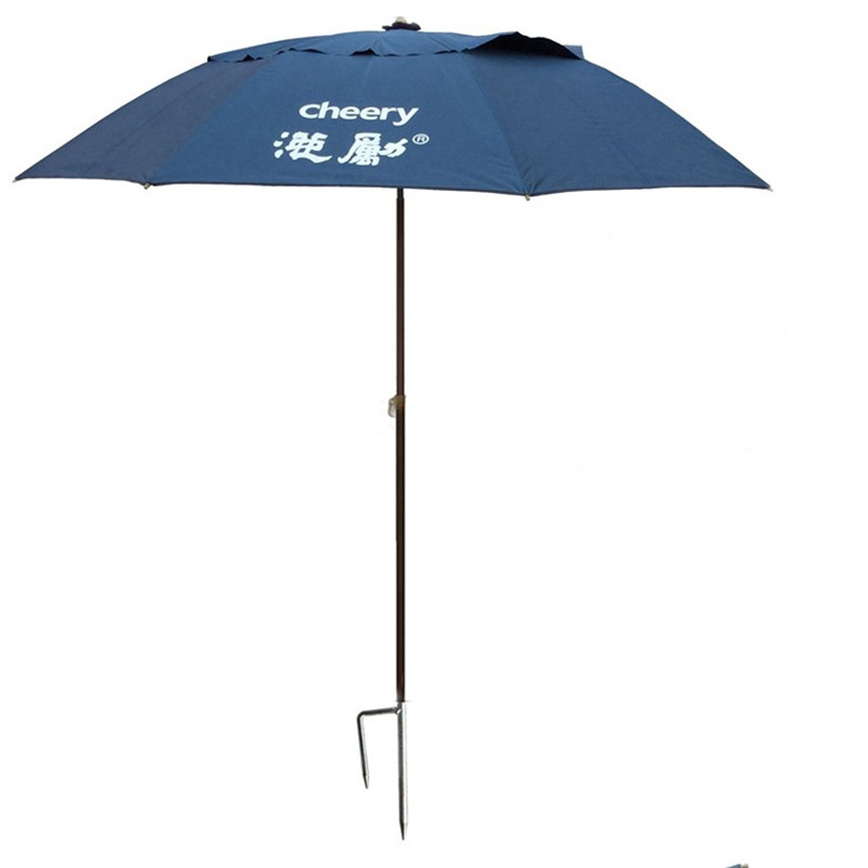 2017 NEW Fishing Sunshade umbrella outdoors Wind and rain Multi-function Sunscreen Diameter 2.2 meters Anti-UV fishing gear 8 bones fishing umbrella 2m diameter aluminum straight umbrella sunshade fishing umbrella oxford silver tape sun shelter
