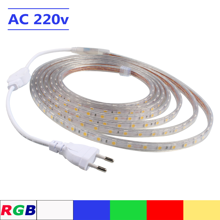 LED Strip AC 220V SMD 5050 RGB Flexible s