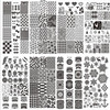 2017 New 32Pcs DIY Nail Latest 32 Styles Art Stamp Template Image Plates Polish Stamping Decal