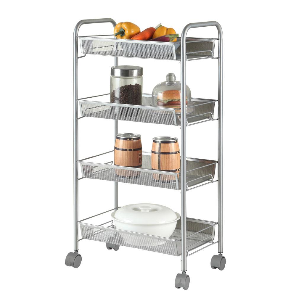 Us 26 59 4 Tier Shelving Rack Shelf Shelves Rolling Kitchen Pantry Storage Utility Cart In Storage Holders Racks From Home Garden On