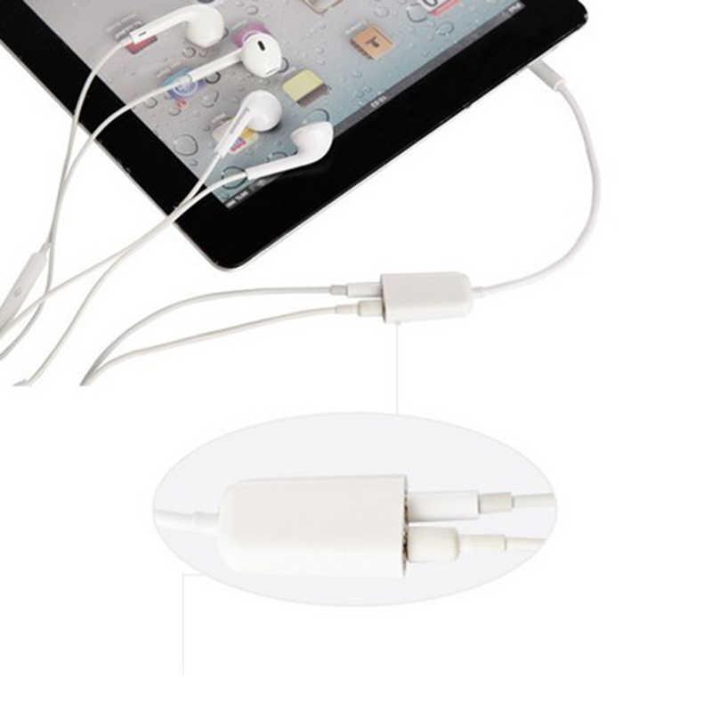 新しいデュアルオーディオラインヘッドセット 3.5 ミリメートルジャックイヤホンスプリッター 1 2 カップル愛好アダプタで Iphone Mp3 Mp4 ポータブルメディアプレーヤー