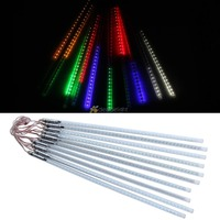 50cm 3528 SMD Meteor Shower Rain lights 54LED 10 Tubes String Evening party Lamp Led meteor tube SMD double sided lamp string