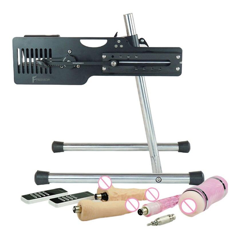 FREDORCH Premium Sex Machine For Women Remote Control Pumping Gun With 7 Attachments Vagina Cup For Men Automatic Vibrator Toys