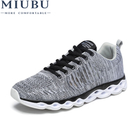 2019 MIUBU Newest Summer Style Lightweight Men Walking Mesh Casual Shoes Casual Ladies Lace Up Flat Shoes