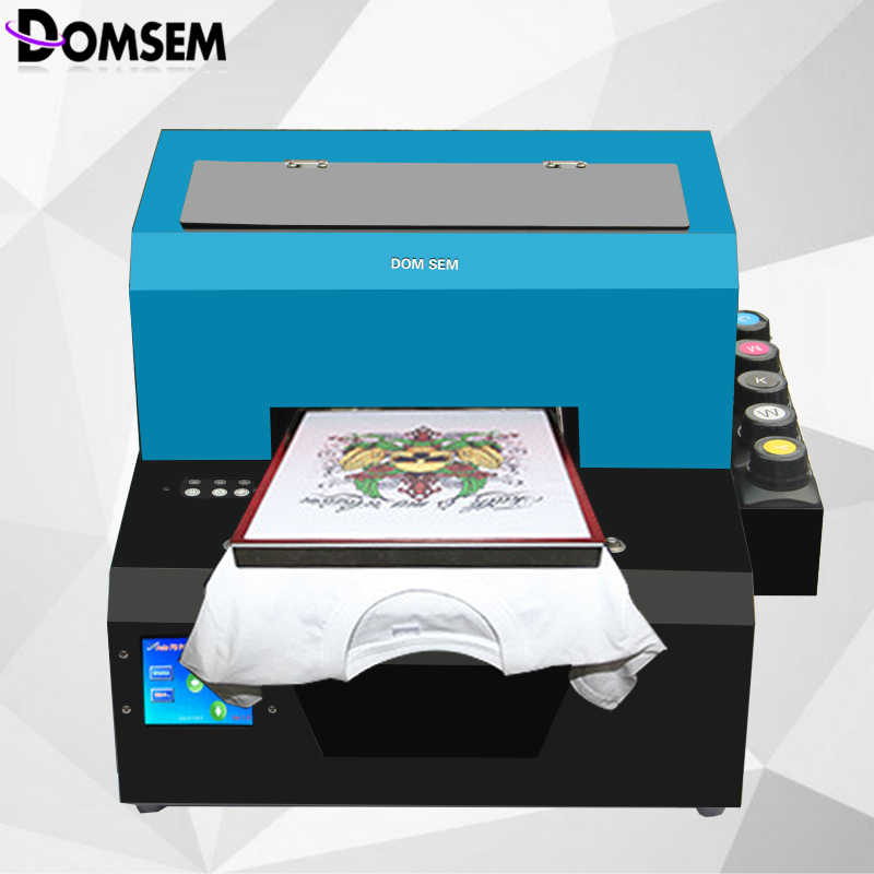 Factory Price A4 size DTG dtg printer direct to garment printer t shirt  cloth printing machine