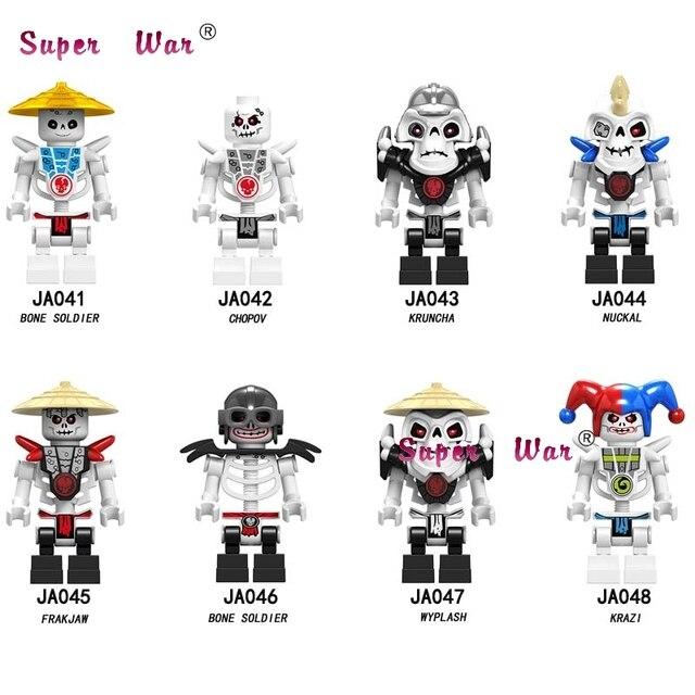 Único Modelo de Blocos de Construção Ninja Action Figure Series Osso Soldado Frakjaw Arma Brinquedos para as crianças Do Exército Esqueleto Garmadon