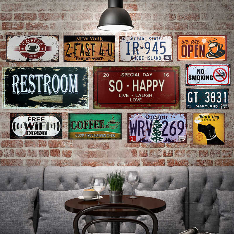 Free Wifi Shabby Chic Home Bar Cafe Vintage Wall Decor Art Metal Tin Signs Pub Tavern Retro Decorative Plates Metal Poster 15x30 Aliexpress