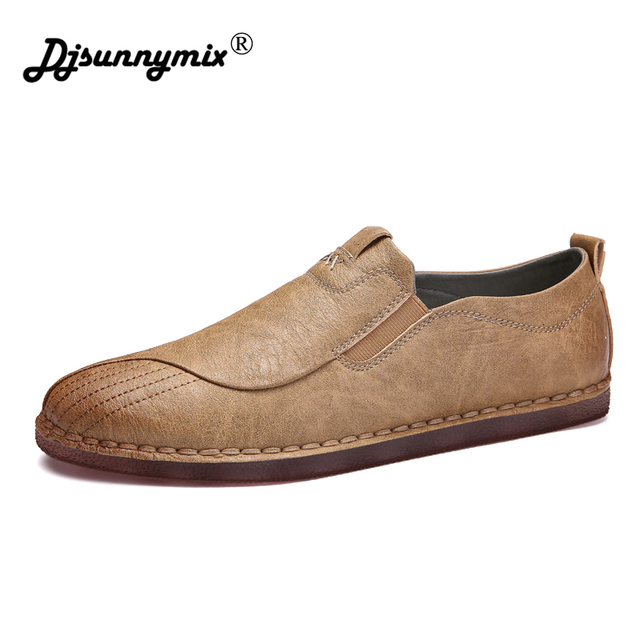 DJSUNNYMIX Fashion Casual Driving Shoes handmade Loafers Men Shoes 2018 New Men  Loafers Luxury Flats Shoes Men Chaussure 2f20076a104