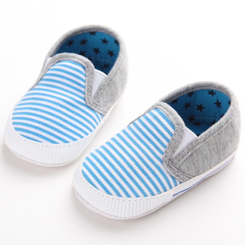 Toddler Baby Shoes Stripe Newborn Shoes Crib Shoes Infant Boy Girl Cotton Soft Bottom First Walkers Sneakers Shoes 0-18 Months