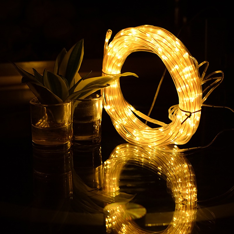 Fairy Lights LED Rope Lights Battery Operated String Lights Waterproof with Remote Timer for Outdoor Indoor Garden Decoration