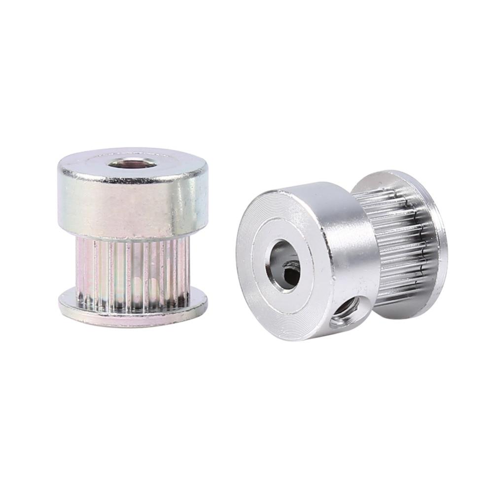 2pcs Al 20 Teeth 5mm Inner Diameter Timing Pulley 3D Printer Belt With Bearing