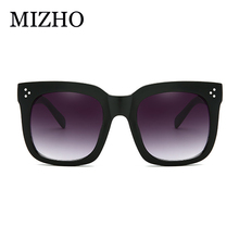 MIZHO Retro Quality Sunglass Lady Oversized Flat Top Eyewear