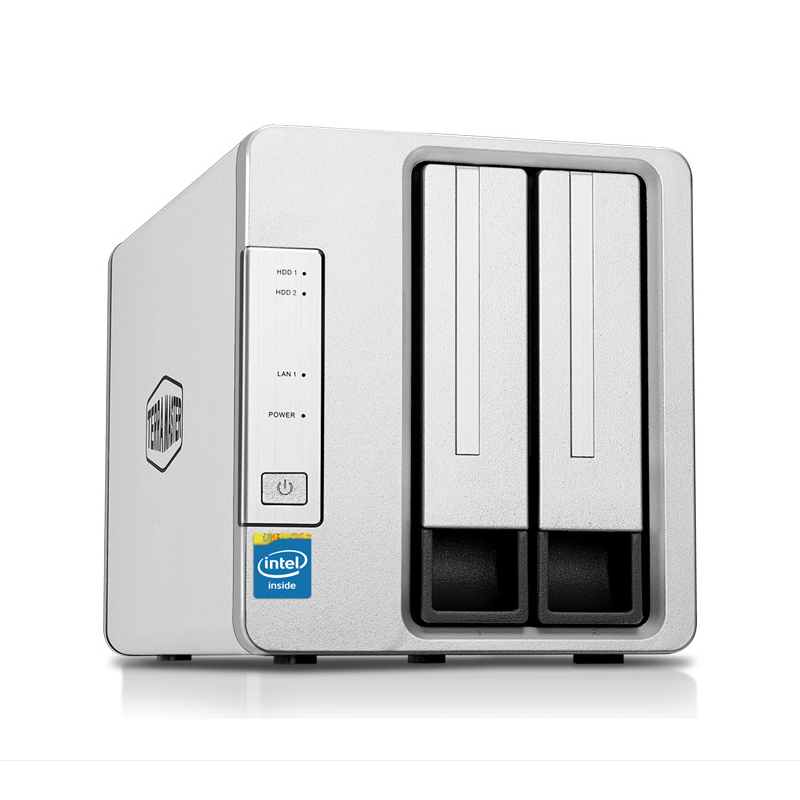 New 2bay HDD NAS personal cloud storage 64bit system 2Gb memory 2 RJ 45 G Ethernet