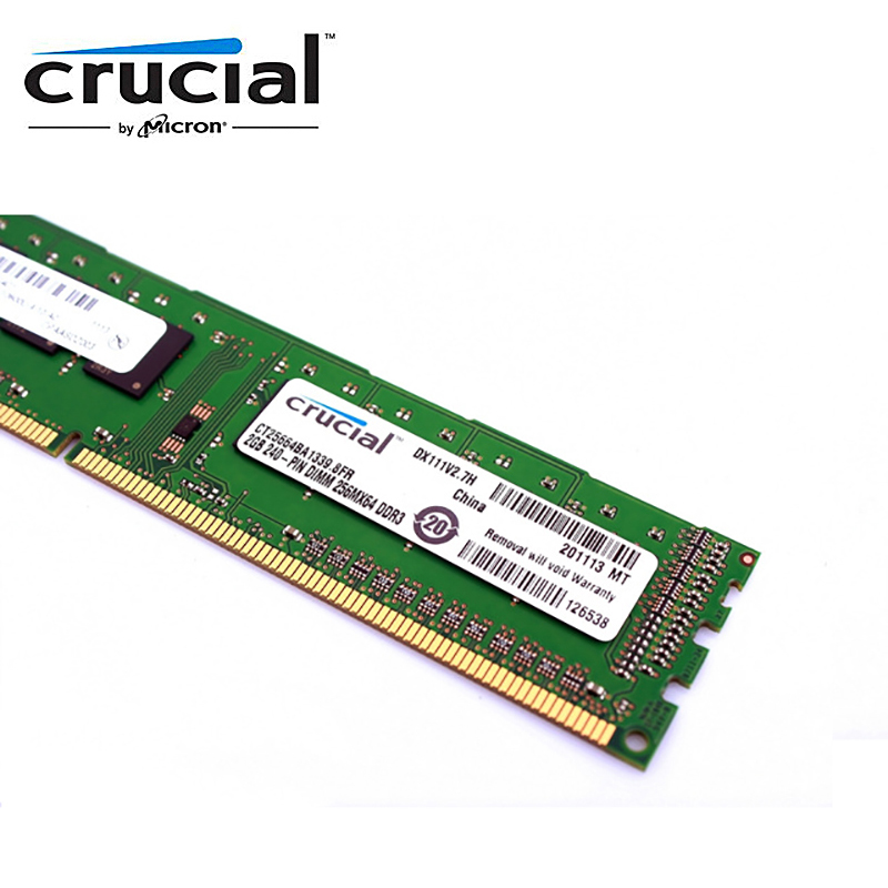 Crucial Desktop Memory RAM with 1GB/4GB/8GB Capacity and 1333MHz/1600MHz Memory Speed 7