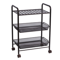 Home kitchen rack floor 3 layer shelf multi function shelf cart finishing rack with wheels removable storage rack wx8201520