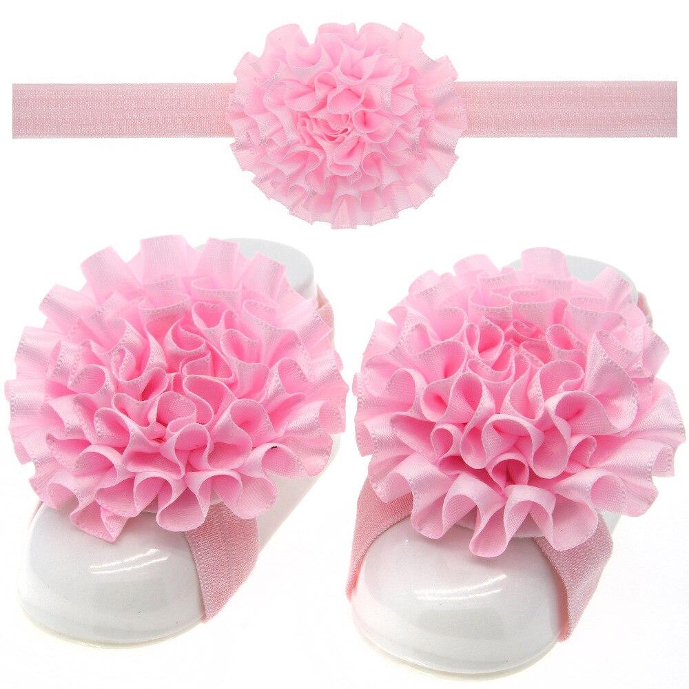 1 Set MAYA STEPAN Headdress Foot Flower Hair Head Band With Wholesale 13 Colors Baby Newborn Headband Headwear Headwrap