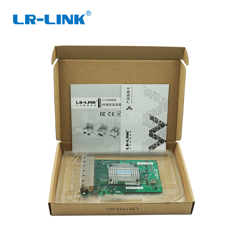 Image 5 - LR LINK 2006PT Six Port Gigabit Ethernet RJ45 Industrial Card PCI Express Lan Network Card Server Adapter Intel I350 NIC-in Networking Storage from Computer & Office