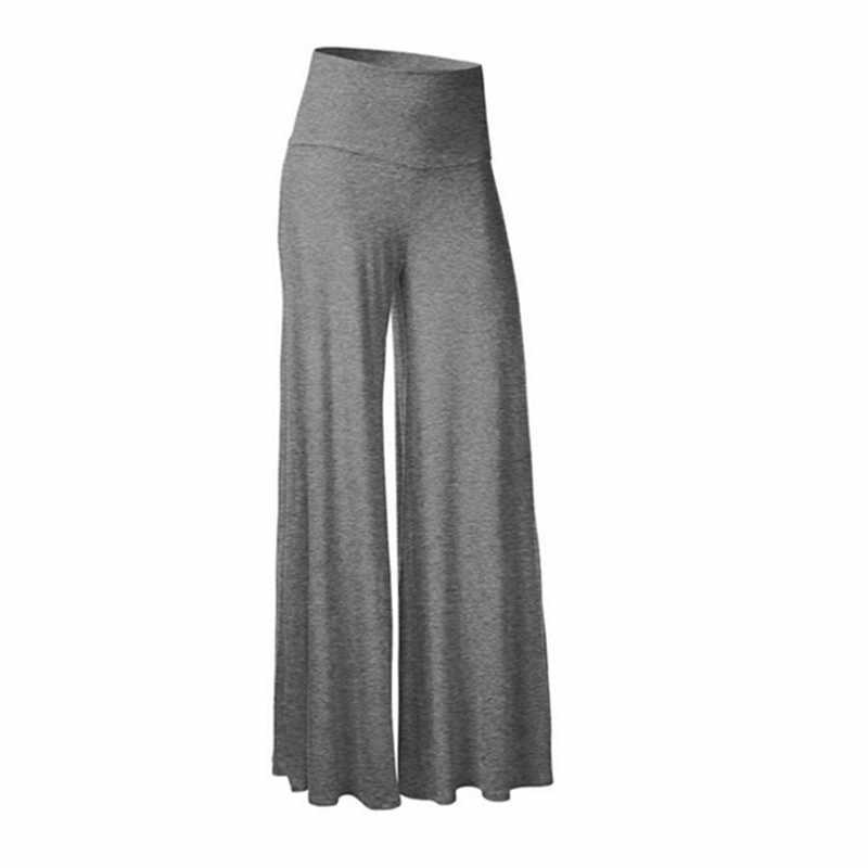 Flare Broek Vrouwen Zomer Herfst Mid-taille wijde Broek Eenvoudige Mode Hippie BOHO Casual Broek Losse pantalon femme Befree