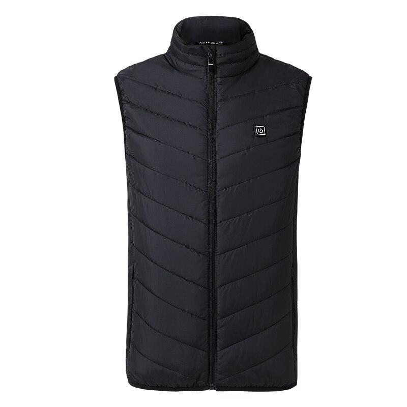 ZYNNEVA 2018 новый для мужчин женщин Подогрев Жилет Отопление USB термальность теплая ткань перо Лидер продаж зимняя куртка GC1101