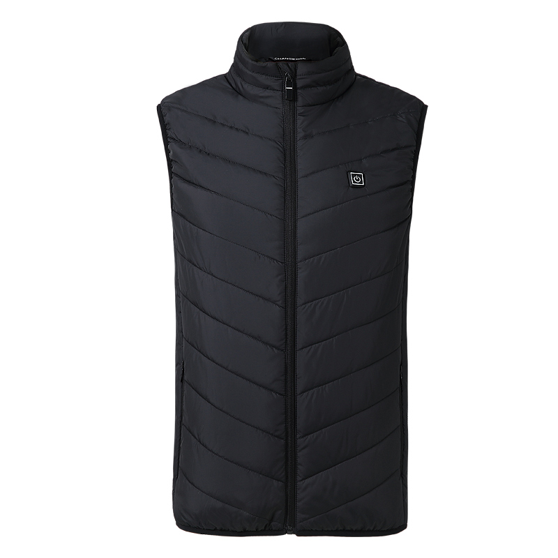 ZYNNEVA 2018 New Men Women Electric Heated Vest Heating Waistcoat USB Thermal Warm Cloth Feather Hot